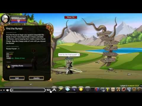 AQWorlds - How to get Blade of Awe Fast!