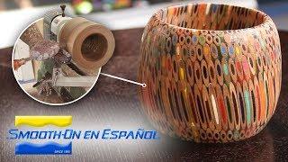 Cómo hacer un recipiente con lápices de colores