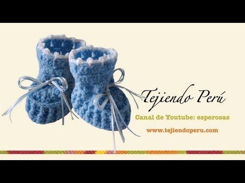 Zapatitos para bebé en crochet (Parte 1)
