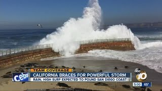 California Braces for Powerful Storm