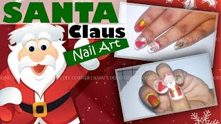 DIY Santa claus nailart for Christmas