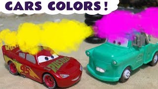 Learn Colors with Cars McQueen and Fun Car Race Toy Stories for kids and children TT4U