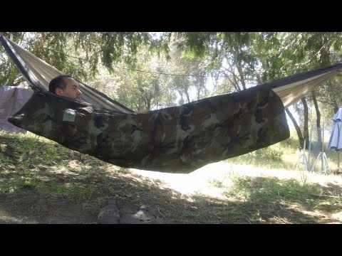 My First Intro To Hammocks For Shelter. Cheap Hammock Underquilt Modification.