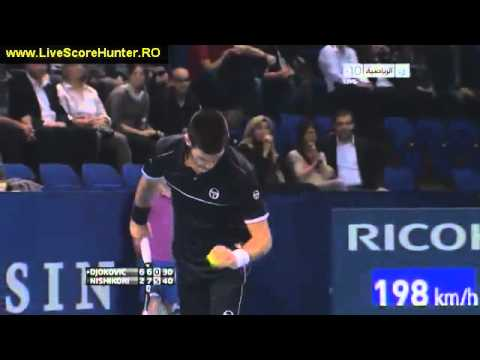 Novak Djokovic vs Kei Nishikori _ATP Basel 2011_ Set3 Last Game