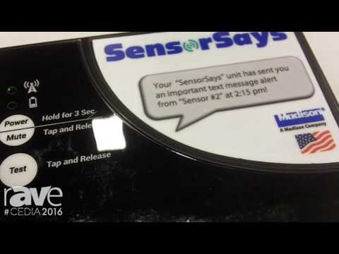 CEDIA 2016: SensorSays Is a Cellular Notification System for Monitoring