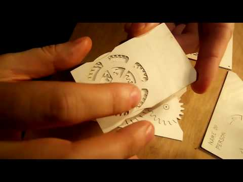 Things - Adam Mayer Makes Geared Business Cards