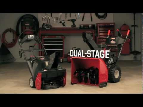 Craftsman Snowblower - See the Difference Single vs Dual Stage