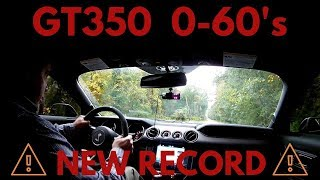 Shelby GT350 Launches on Cold Day - New 0-60 Record!