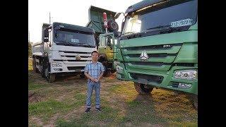 Xe tải Howo 3 chân 371hp khập khẩu Full Option giá rẻ