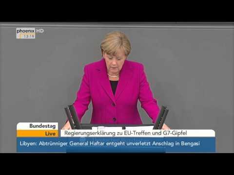 EU-Kurs: Rede von Bundeskanzlerin Merkel am 04.06.2014