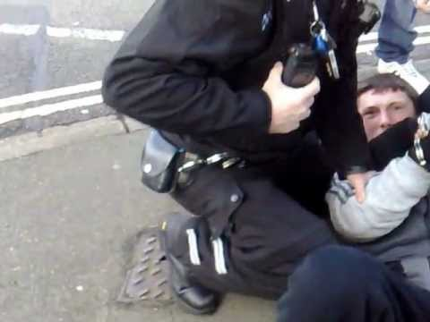 Police aggressively arrest 17 year old for NO REASON...Full video & better quality (other angle)