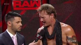 Chris Jericho August 1st 2016 RAW Live Backstage Promo