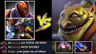 OMG THE DREAM Top 1 Techies vs Anti-Mage 10 Items Most Epic Gameplay Full Bomb OC Scepter Dota 2