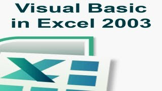 Visual Basic In Excel 2003