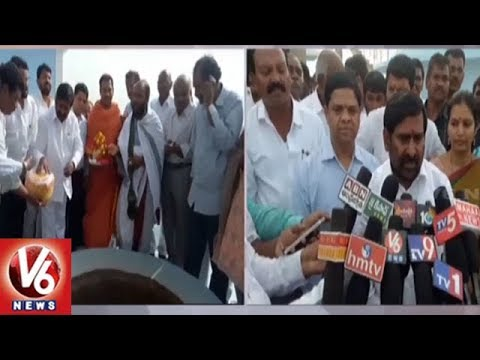 Minister Jagadish Reddy Launches Mission Bhagiratha Trail Run In Suryapet Dist | V6 News