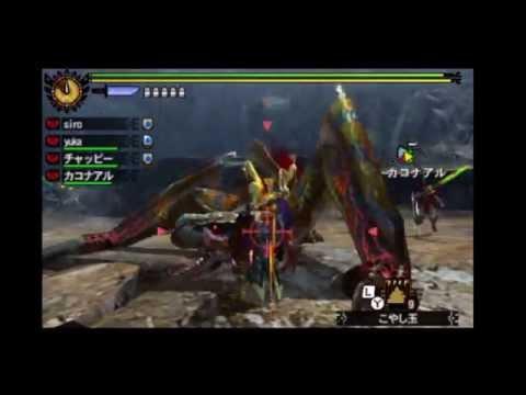 【MH4G】G★2 リオレウス亜種 ティガレックス ガンランス【集会所G級】