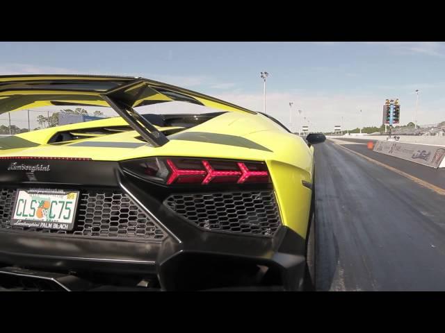 Lamborghini Aventador LP720-4 Launch Control Demonstration