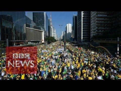 Brazil: Mass protests over oil giant Petrobras - BBC News