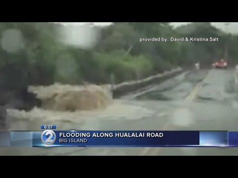 Flooding on Hualalai Road