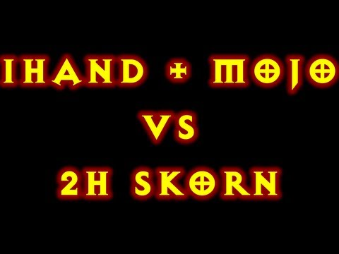 Diablo 3 Witch Doctor Fire Bats 1h + Mojo Vs 2h Skorn