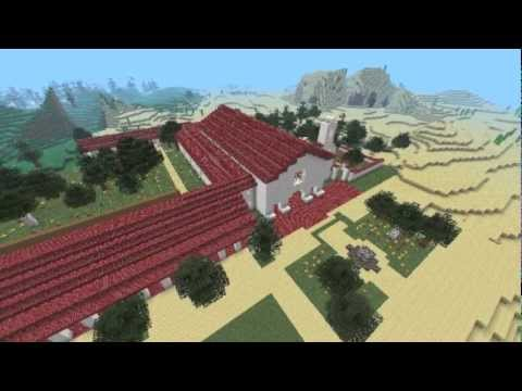 San Juan Bautista Mission Project Built in MineCraft 1.2.5