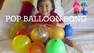 Lagu Anak Mengenal 10 Malaikat  + Five Color Ballon ❤ Color Pop Ballons Song @LifiaHD