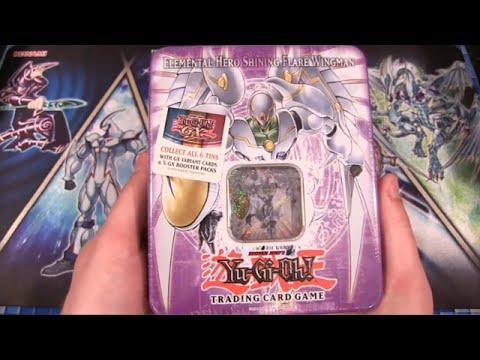 Yugioh Gx Elemental Hero Shining Flare Wingman Tin Opening video
