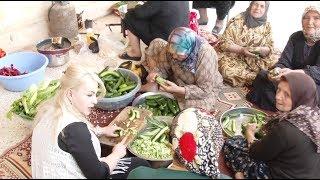 زفة عبد العزيز & ديانا بيت بركات في جنديرس عرس كردي في عفرين اجواء القرية زفة عروس