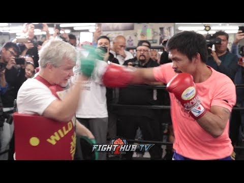 MANNY PACQUIAO'S FULL MEDIA WORKOUT FOR HIS ADRIEN BRONER FIGHT