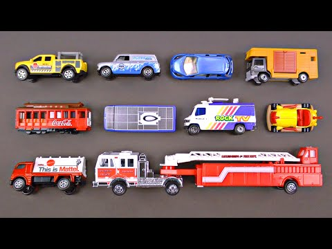 Learning Street Vehicles for Kids - Cars & Trucks for Toddlers - Hot Wheels Matchbox Tomica Toy Cars