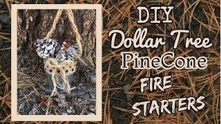 EASY DIY Dollar Tree PINECONE FIRE STARTERS | Dollar Tree DIY