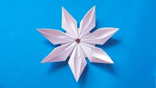 Easy origami modular flower