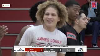 Monte Vista vs James Logan High School Boys Basketball NCS QUARTERFINAL 2/16/19