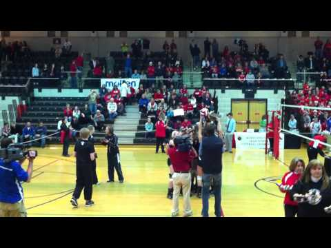 Trophy Presentation - North Hagerstown High School wins Maryland State 2012 Volleyball Championship