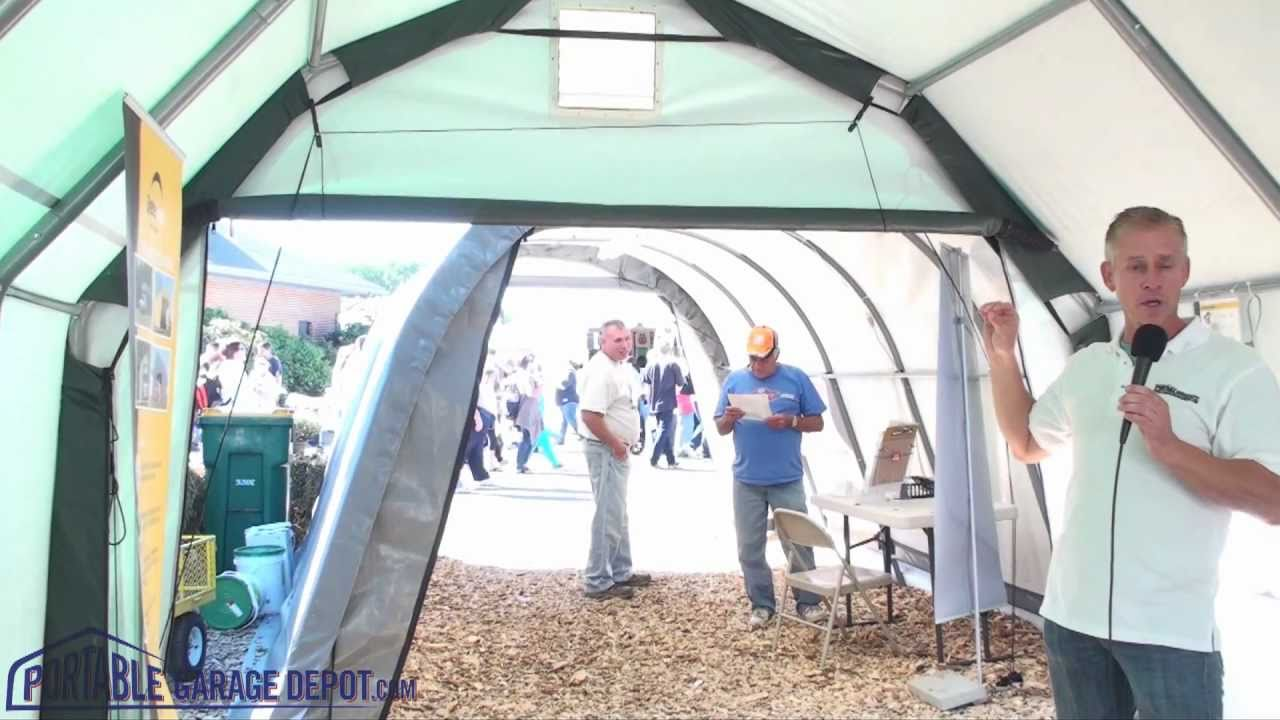 Barn Style Portable Garage - YouTube