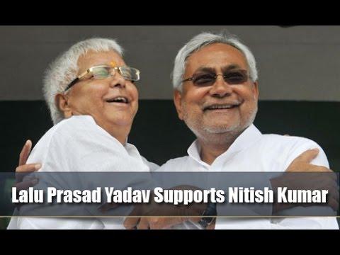 Lalu Prasad Yadav Supports Nitish Kumar as CM Candidate