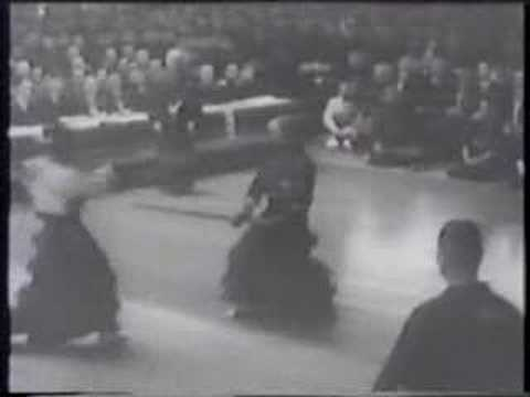 Kendo tournament in front of the japan emperor