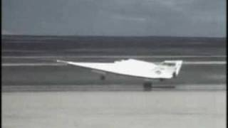 X-24B in flight and landing - air drop from mothership