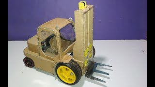 How to make a RC Car (Fork Lift Truck) from Cardboard