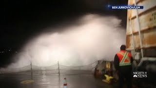 West Coast Battles Massive Winds And Waves | NBC Nightly News