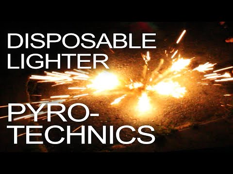 Disposable Lighter Pyrotechnics