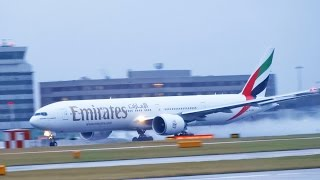 Plane Spotting at Manchester Airport - Runway 23R Arrivals and Departures [1080p HD]