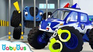 몬스터경찰차 출동!|나쁜 악당몬스터차 잡았다!|자동차|생활동요|Police Cartoon|베이비버스 동요|BabyBus