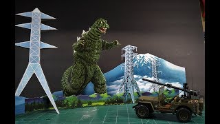 MPC Godzilla Invasion of Astro Monster Army Jeep 1/25 Scale Model Kit Build Review MPC882