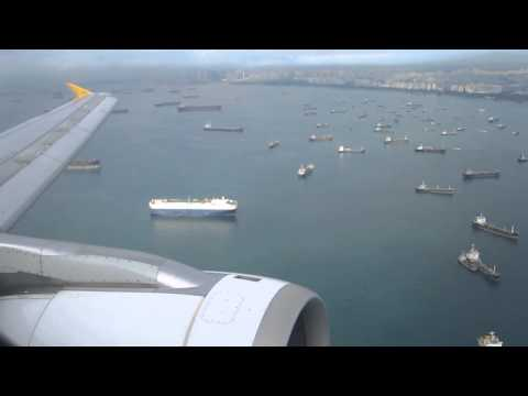 AWESOME LANDING | Tiger Airways A320-200 in Singapore Changi International Airport