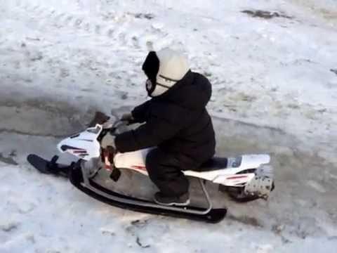 Детский снегокат с мотором своими руками с мотором