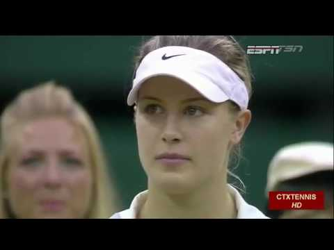 Petra Kvitova VS Eugenie Bouchard Highlight (Wimbledon) 2014 Final