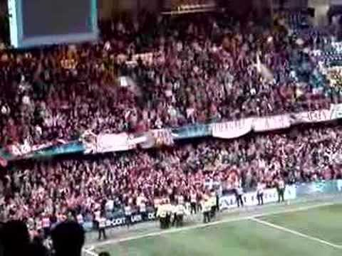 We Are The People 1- Olympiacos Fans Singing  Stamford Br. video