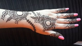 Arabic Henna Design - Easy Mehendi Tattoo