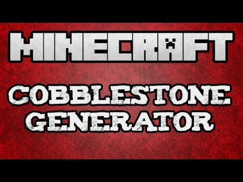  Minecraft Tutorial - Compact/Easy Cobblestone Generator Tutorial